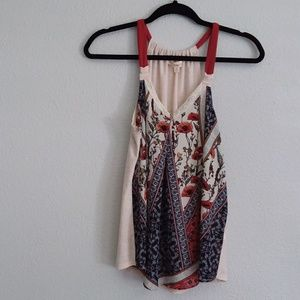 Rewind floral tank tee blouse- Small